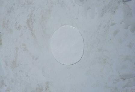 Устранение колотых дефектов мембраны, фото после